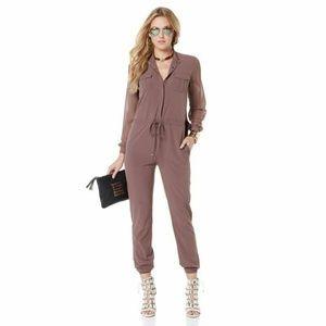 Nene Leakes Romper Women 10T Long sleeve Button Fr